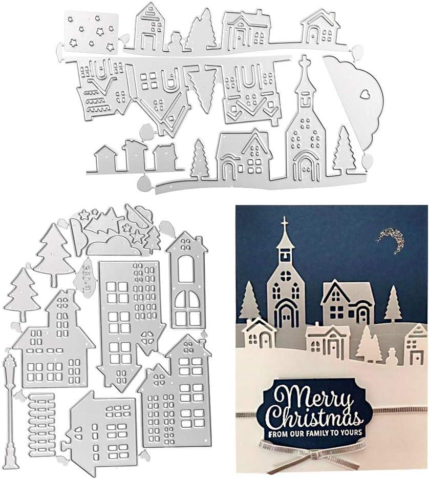 Haus Weihnachten Metall Stencil Cutting Dies Scrapbooking Fotopapier Karten Die