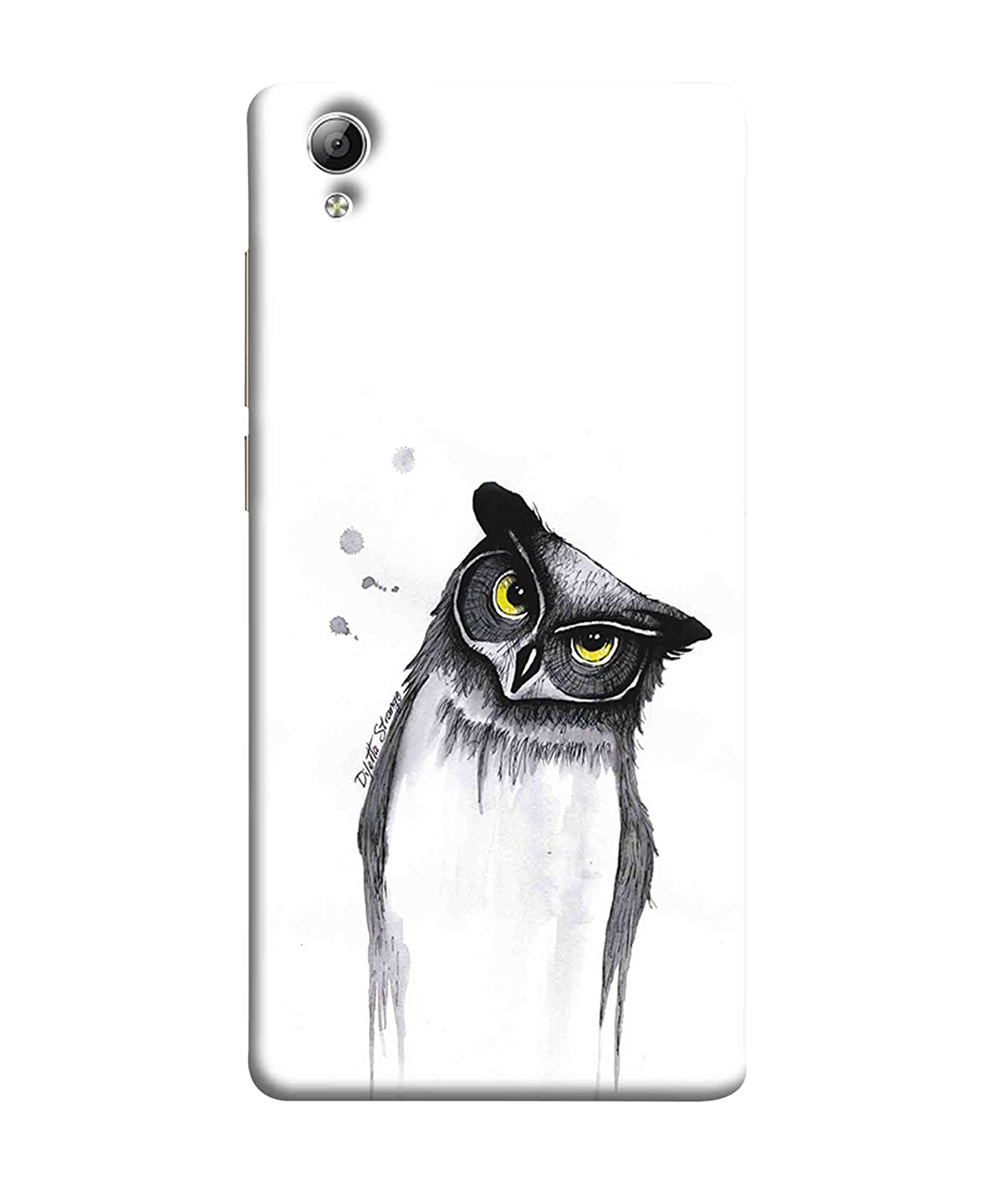 Printfidaa owl pencil sketch design vivo y51 amazon in electronics