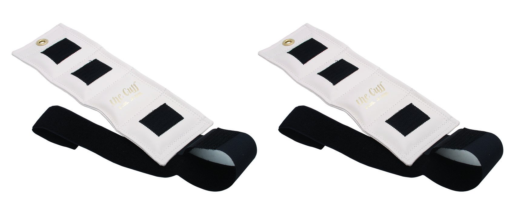 The Cuff Original Ankle and Wrist Weight - 2 pound, White - Set of 2