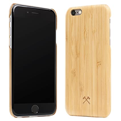 Woodcessories – Carcasa, Funda compatible con iPhone 6 Plus / 6S Plus, de madera real, EcoCase Slim (Bambú)