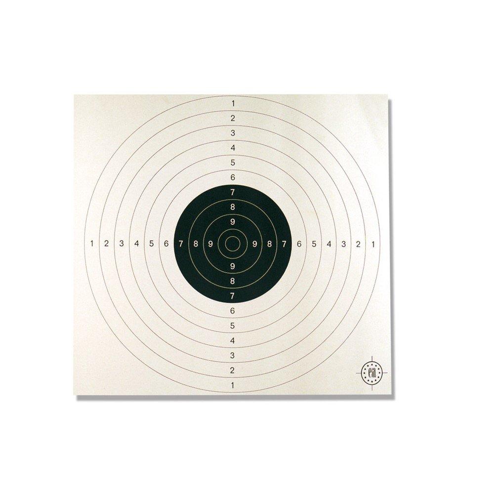 Cartons cibles C50 blancs 53 x 53 Europ-Arm