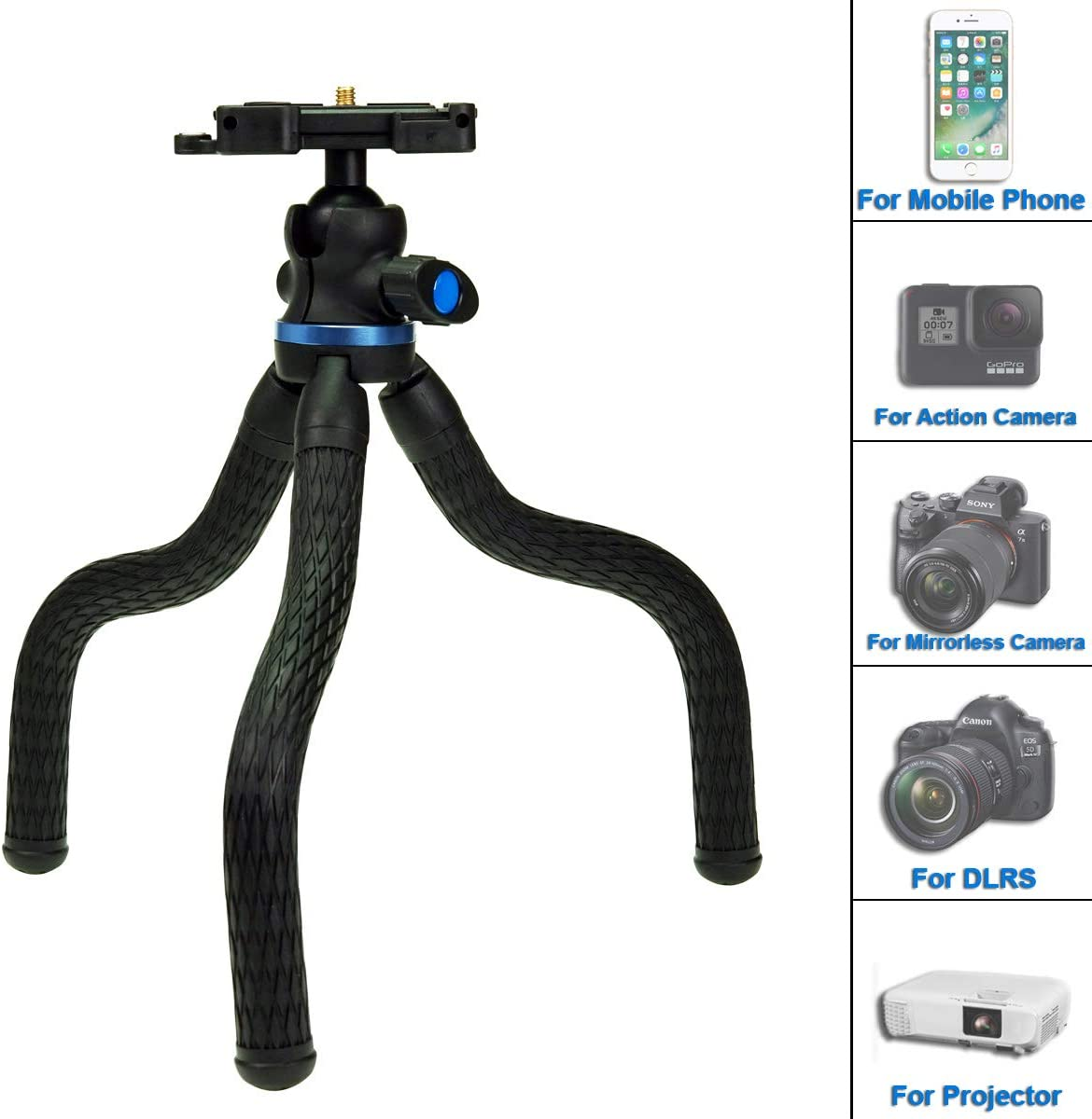 SIOTI - Mini trípode para cámara con Clip de teléfono y trípode ...