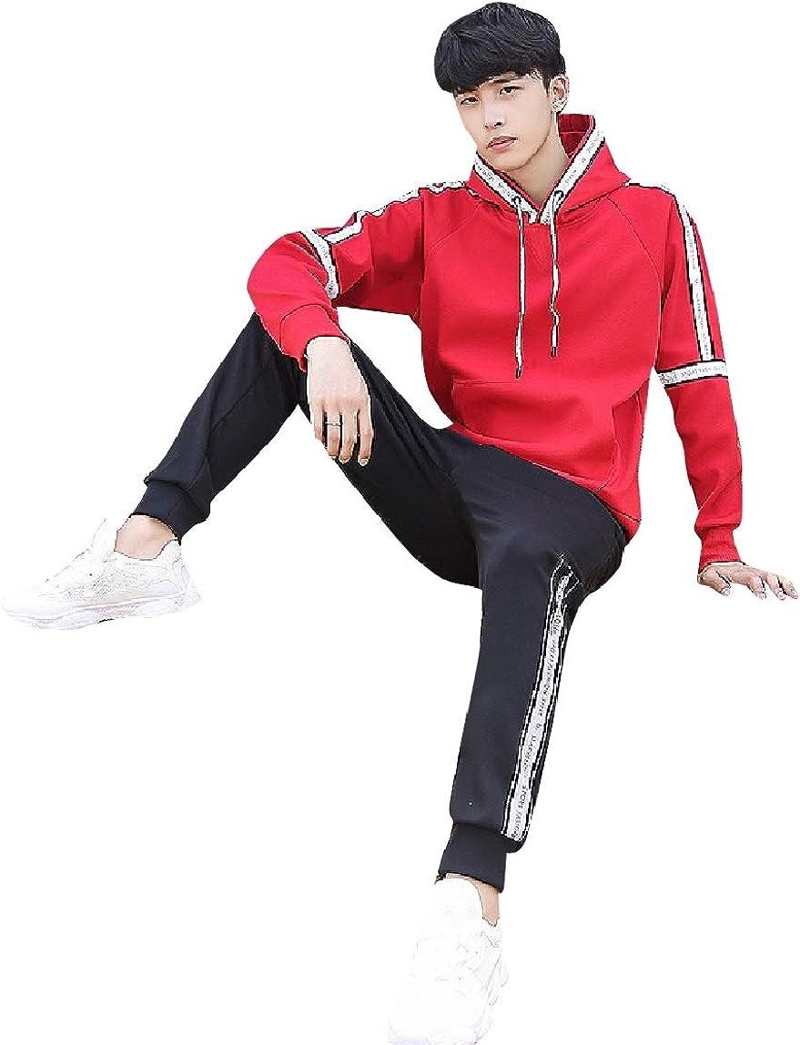 Mirrliy Mens Juniors Casual His and Her Hooded Sweatshirt Pants Set