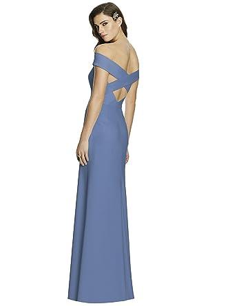 Amazon Dessy Style 2987 Floor Length Crepe Trumpet Skirt Formal