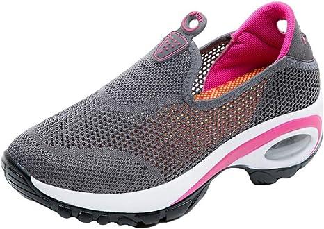 LILICAT Para Mujer Respirable Malla Aptitud Zapatillas Casual ...