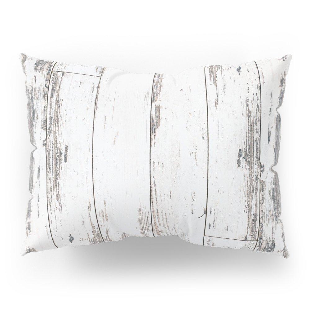Society6 White Wood Pillow Sham Standard (20'' x 26'') Set of 2
