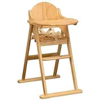 East Coast Chaise Haute Pliable En Bois Solide Accessoire Repas