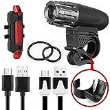Farol e Lanterna para Bicicleta, Recarregável USB, Impermeável - Loijon