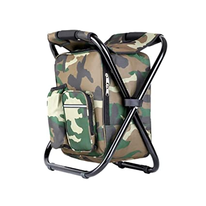 Cooler Backpack Folding Stool Portable Compact Collapsible Camping Chair