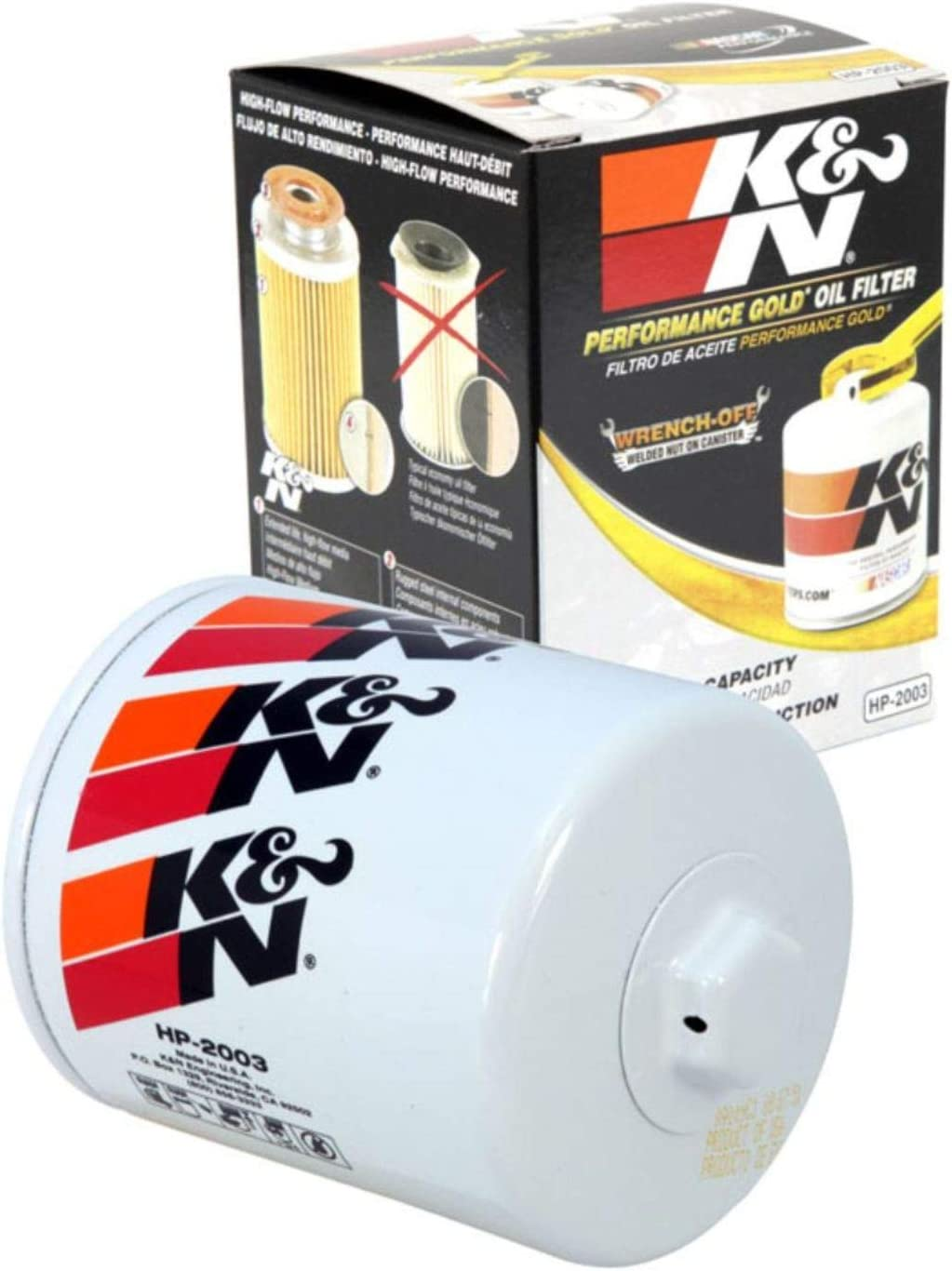 K&N Premium Oil Filter: Designed to Protect your Engine: Fits Select JEEP/AMC/BUICK/PONTIAC Vehicle Models (See Product Description for Full List of Compatible Vehicles), HP-2003