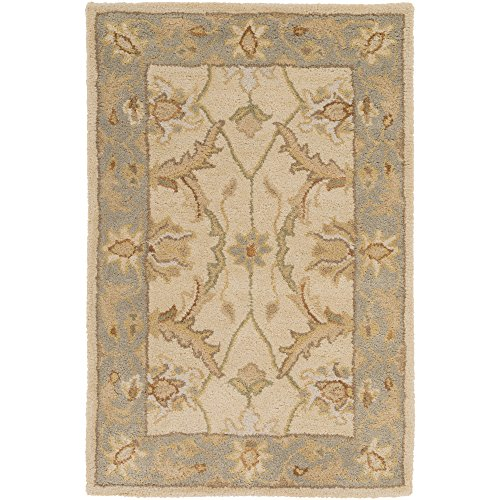 Surya Clifton CLF-1014 Classic Hand Tufted 100% Wool Parchment 3'3