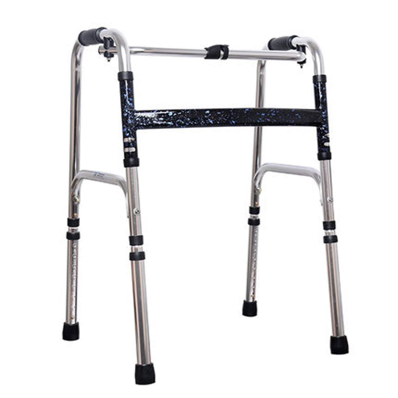 激安正規品 高齢者の歩行器 青) :、アルミニウム構造の歩行の歩行器、折りたたみ式四足補助歩行器、多色オプション (色 青 : 青) 青 B07L6FC2H6, atmos-tokyo:5802453b --- a0267596.xsph.ru