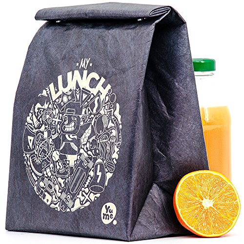 Thermal Lunch Bag By Yume   Large Insulated Paper Lunch Sack Box  Radicool   Foldable   Reusable Bags With Designer Prints   Magnetic Handle For Adults   Children Who Like Healthy Packed Lunches