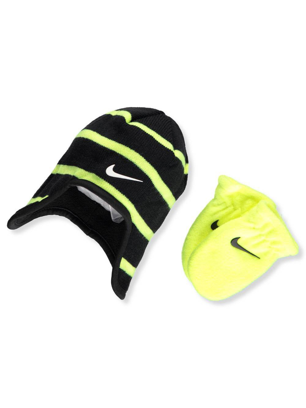 101693da6db Galleon - Nike Baby Boys  2-Piece Beanie   Mittens Set - Black