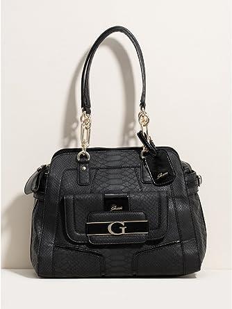 Amazon.com: Guess Fallon Medium Carryall, color negro: Clothing