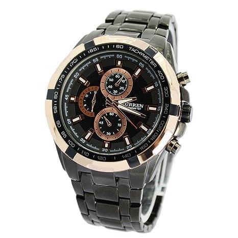 Pixnor Cuarzo reloj de pulsera de CURREN 8023 impermeable hombres con caja de papel del paquete
