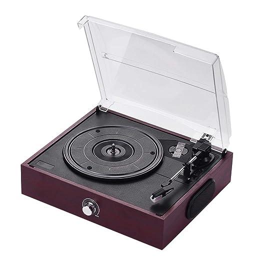 ZJY Reproductor de grabación Bluetooth, Tocadiscos Retro 3 ...