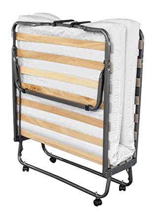 Einrichten24® Cama, supletoria Plegable Colchón 90 x 200 cm | Inclusive husse/Revestimiento: Amazon.es: Hogar