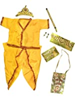 Shopluvonline Janamashtami Special Krishna Dress Laddu Gopal Costume For Cosplay With Accessories
