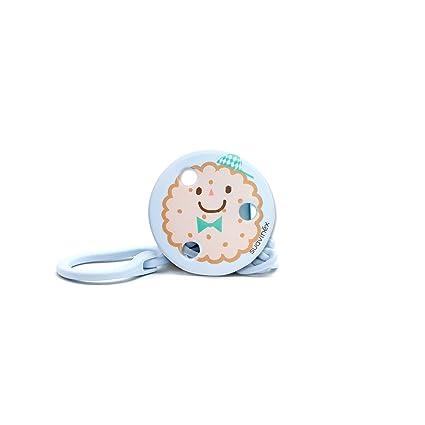 Suavinex 303251 - Broche redondo galletas, color azul
