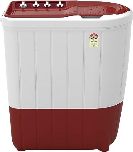 Whirlpool Semi-Automatic 7 Kg 5 Star Top Loading Washing Machine (SUPERB ATOM 7.0, Coral Red, TurboScrub Technology)