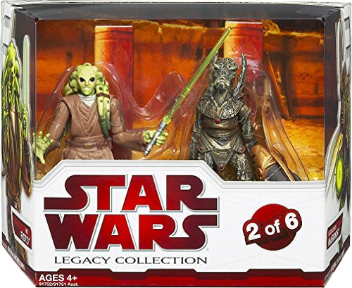 Star Wars Legacy Collection Geonosis Arena Showdown - Kit Fisto and Geonosian Warrior