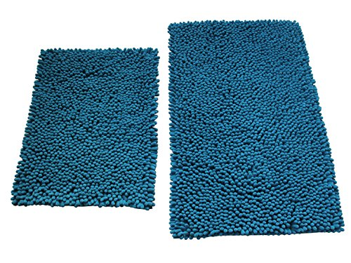 Green Mars Non-slip Bathroom Rug Soft Microfiber Shag Shower Mat Set, Machine-Washable and Ultre Waterproo