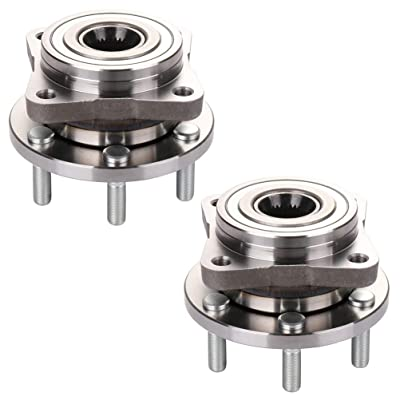 Bodeman - Pair 2 Front Wheel Hub and Bearing Assembly for 1991 1992 1993 1994 1995 1996 Dodge Dakota 4WD/ 1992-1993 Dodge Viper: Automotive