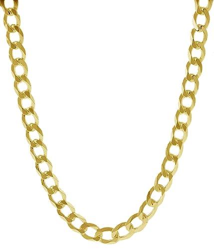 35f2610d6d3a Cadena de eslabones cubanos de oro amarillo sólido de 18 quilates ...