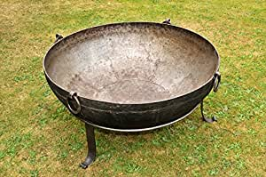 Authentic Iron Kadai Fire Pit with Stand 120-140kg