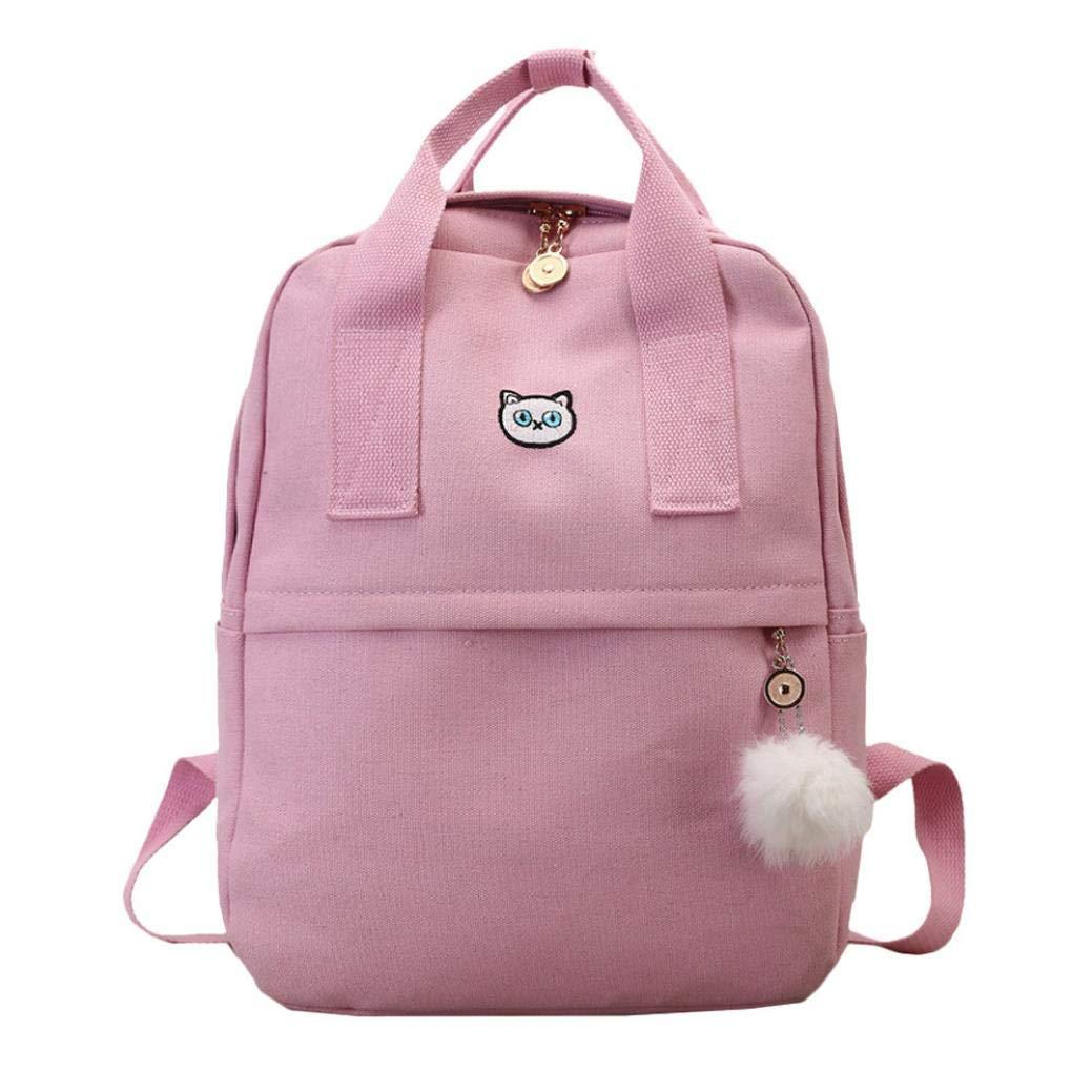Clearance Sale,Realdo Fashion Boy Girl Canvas School Bag Student Backpack Satchel Travel Daypack