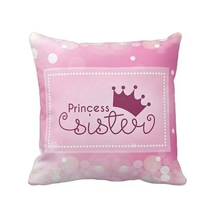 YaYa Cafe 20X20 Inches Bhaidooj Birthday Gift For Sister Cushion Cover Princess