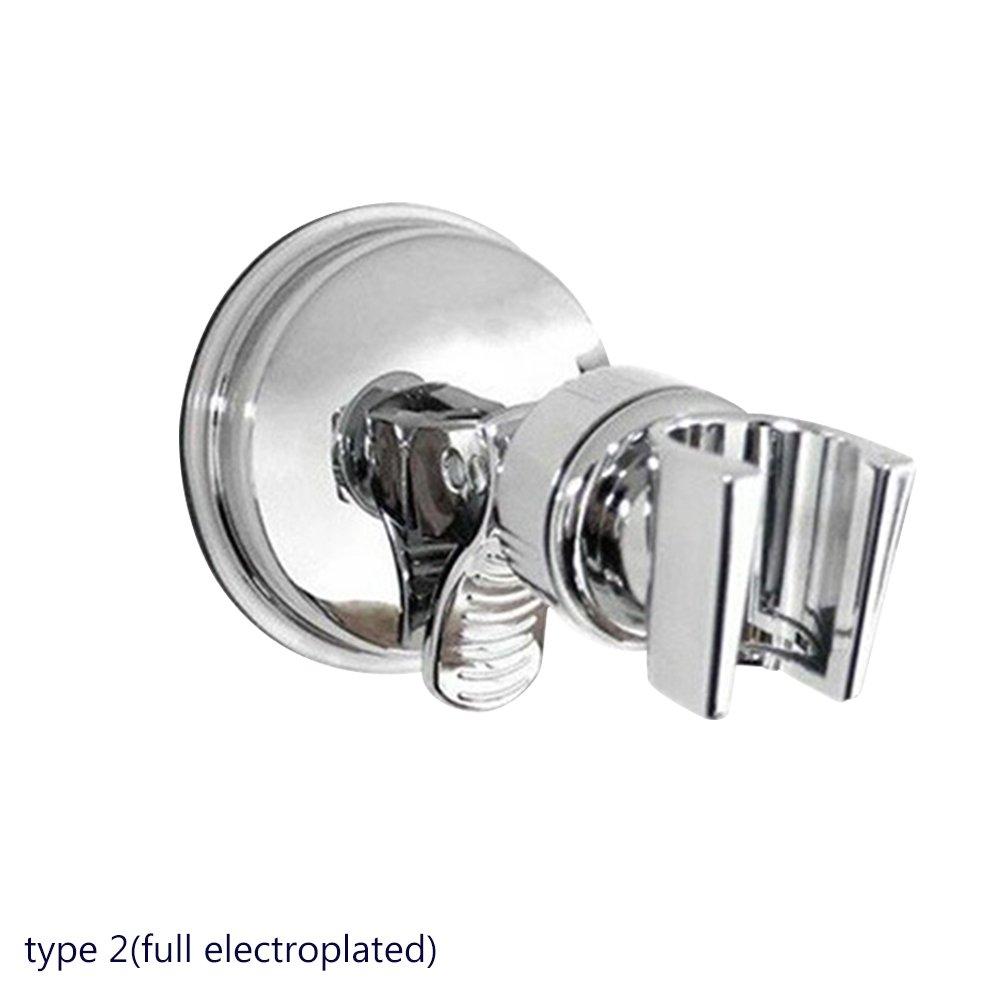 Blackr –  Supporto per doccia, doccetta regolabile ventosa staffa, riutilizzabile, impermeabile, bagno doccetta soffione supporto a parete Holder