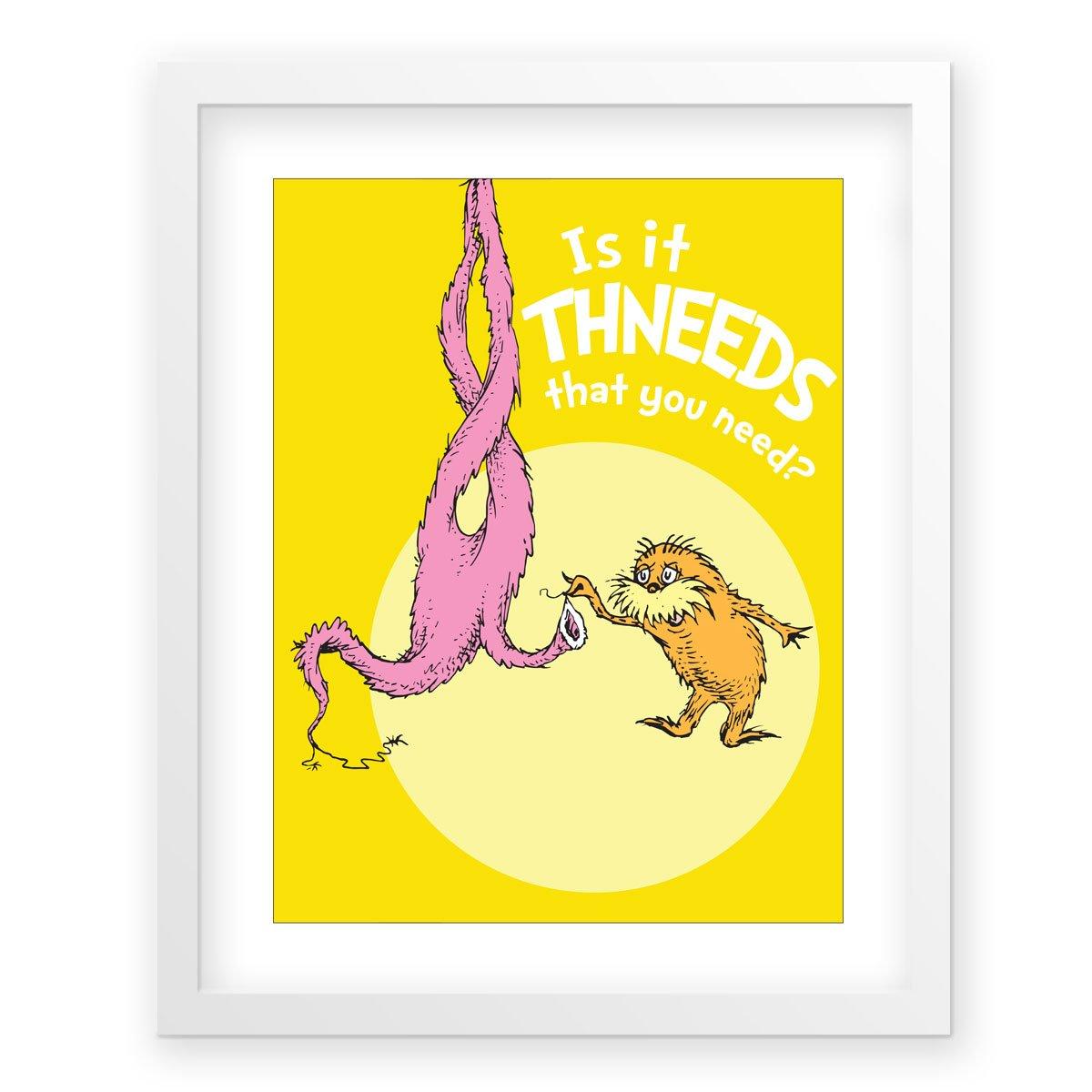 Amazon.com: Is It Thneeds?, yellow - E121f, framed Dr. Seuss ...