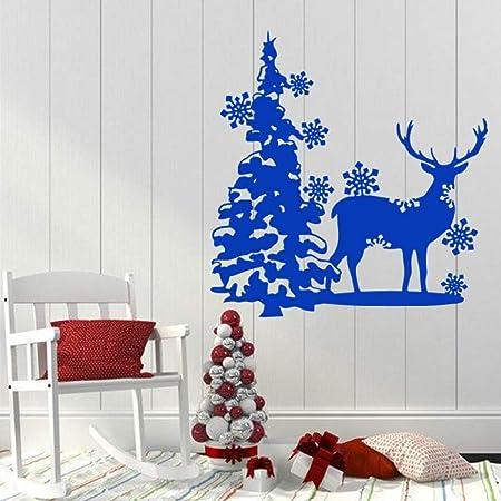 ganlanshu Decoración navideña, árbol de Navidad, Copo de ...