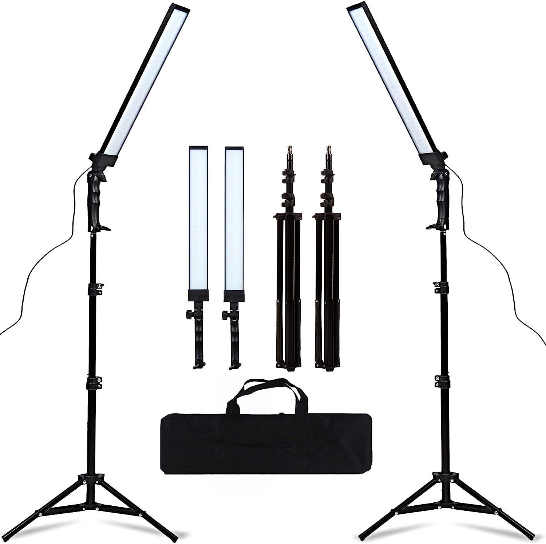 GSKAIWEN 180 LED Light Photography Studio LED Lighting Kit Adjustable Light with Light Stand Tripod Photographic Video Fill Light : Camera & Photo