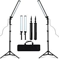 GSKAIWEN LED Light Photography Studio LED Lighting Kit Adjustable Light with Light Stand Tripod Bag Photographic Video…