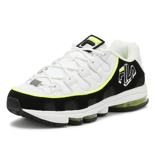 Fila Uomo Bianco Nero Giallo Silva Sneaker  Amazon.it  Scarpe e borse 6590ab2be50