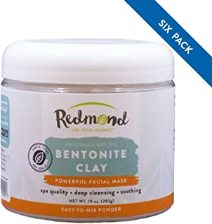 product image for Redmond - Bentonite Clay of 1000 Uses, Soothing Facial Mud Mask 10 Ounce (6 Pack)
