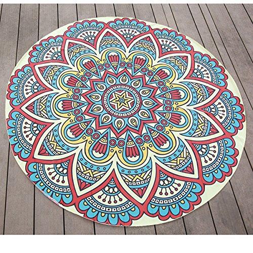 145 cm impresión fina gasa playa toalla de Yoga Mandala ...