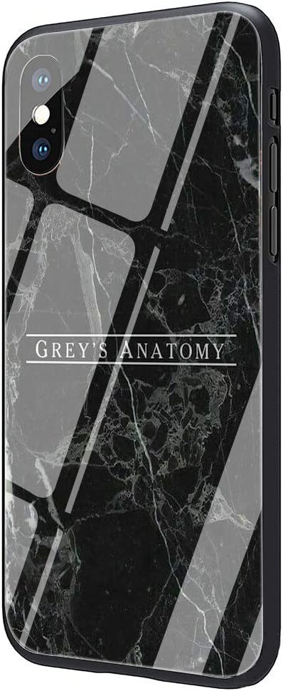 American TV Greys Anatomy Tempered Glass Phone Case Cover for iPhone Xs Max XR X 8 7 6 6S Plus (G6,for iPhone 7plus 8plus)