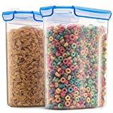 Airtight Cereal Containers Storage Set - 2-Pack [168 oz. 21 cup] With Silicone