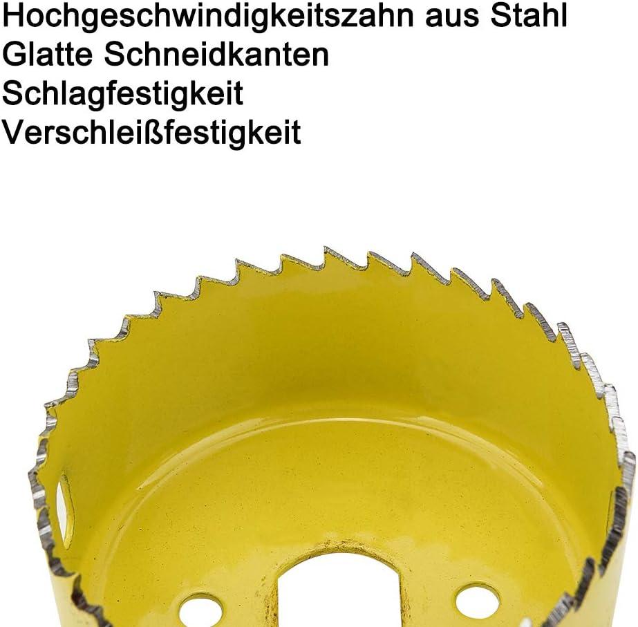 """Press Board und Kunststoffplatte Bohren Gipskarton 2 1//2/"""" Lochs/äge Kit geh/ärtetem Kohlenstoffstahl SENZEAL 8 pcs 3//4/"""" Holz Loch/öffner Set Inbusschl/üssel und installieren Platte f/ür Holz"""