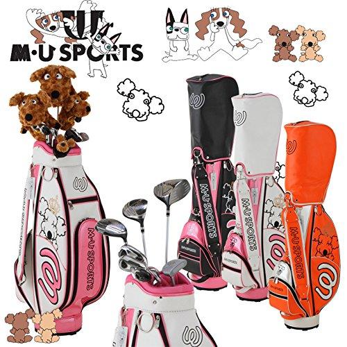 MUスポーツ 703V4900 レディース ゴルフ ハーフセット クラブ8本組 キャディバック付 【ヘッドカバー4点付】 B0795RJ8SV ホワイト