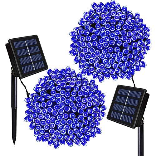 Outdoor Solar String Lights Blue in US - 2