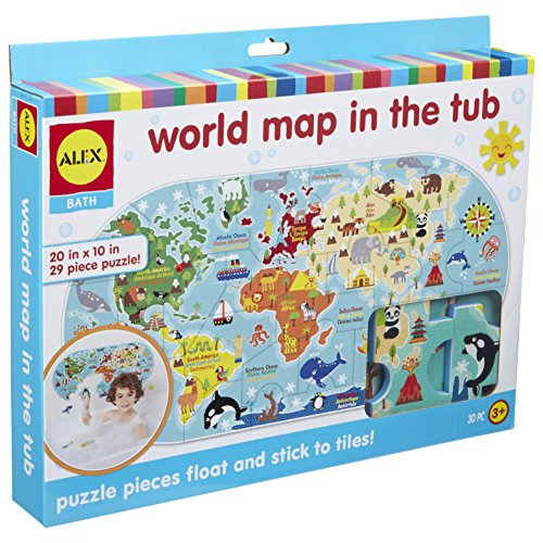 Kids Map Continents - ALEX Bath World Map in the Tub