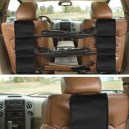 GVN Car Concealed Front Seat Back Gun Rack To Hold 3 Rifles For Rifle Hunting Fits Most Sedans SUVs Pickup Mini Vans Jeeps In Pair Black (Fit Gun)