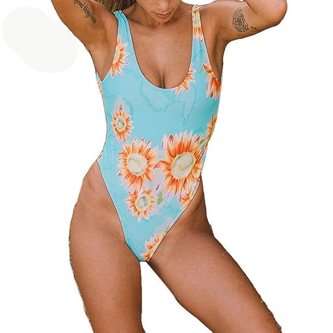 Amazon.com: Girasol Bikini Floral 2 estilos trajes de baño ...