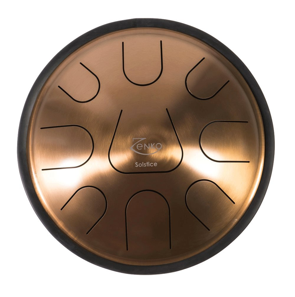 ZENKO SOLSTICE - Steel Tongue Drum - 9 tones - Intuitive musical instrument - Deluxe gig bag, support and mallets included