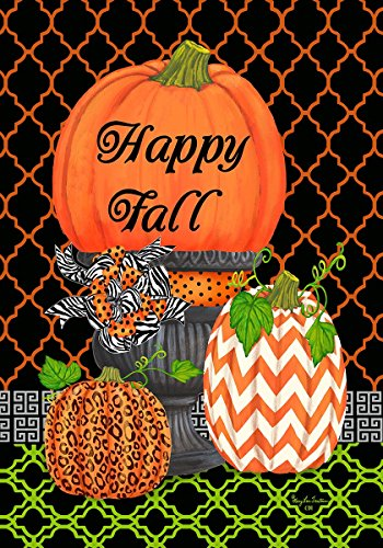 Happy Decorative Pumpkins Autumn GardenFlag